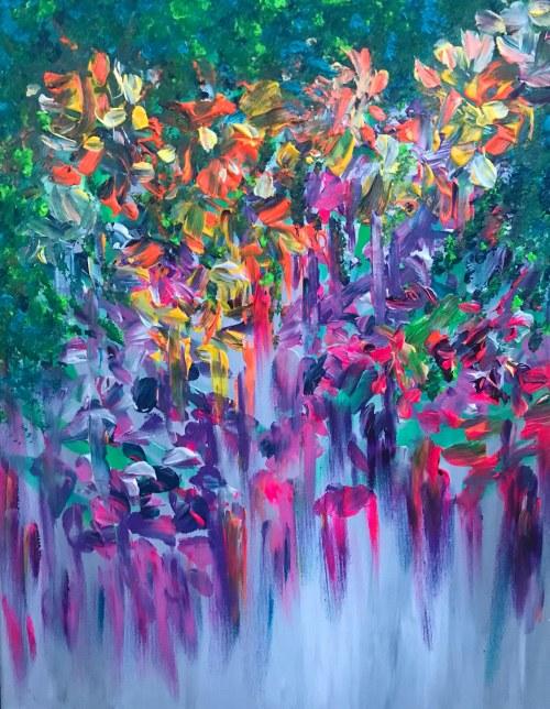Iwona Kalaman, Kwiaty we włosach, 2021