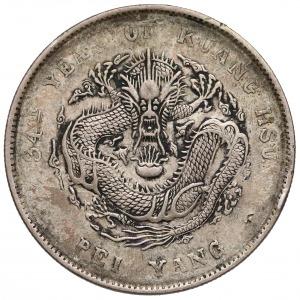 Chiny, CHIHLI (Pei Yang) 7 Mace 2 Candareens (Dollar) Rok 34 (1908)