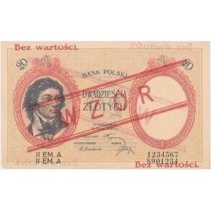WZÓR 20 złotych 1924 - II EM. A