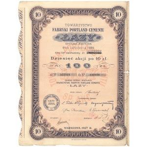 Fabryka Portland Cementu ŁAZY, 10x 10 zł 1927