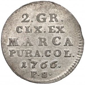 Poniatowski, Półzłotek 1766 FS - 7 listków