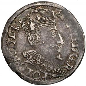 Zygmunt III Waza, Trojak Olkusz 1595 - znak w leg. Aw.
