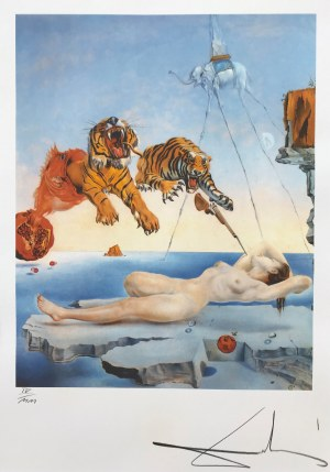 Salvadore DALI (1904 - 1989), Dream caused by the Flight..., 1988
