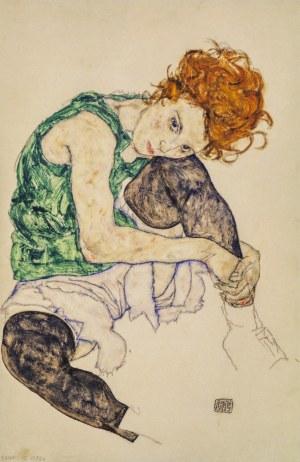 Egon SCHIELE (1890 - 1918), Seated Women with knee raised, 1917/2021