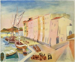 Moise KISLING (1891 - 1953), Port w Saint-Tropez, 1990