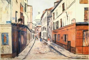 Maurice UTRILLO (1883 - 1955), Montrmartre, 1961