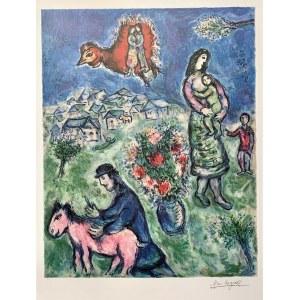Marc CHAGALL (1887 - 1985), La route du Village, 1989