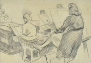 Stanisław KAMOCKI (1875-1944), W pracowni - lekcja rysunku, III.1941 (?)