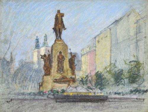 Władysław SERAFIN (1905-1988), Pomnik Grunwaldzki na Placu Jana Matejki w Krakowie