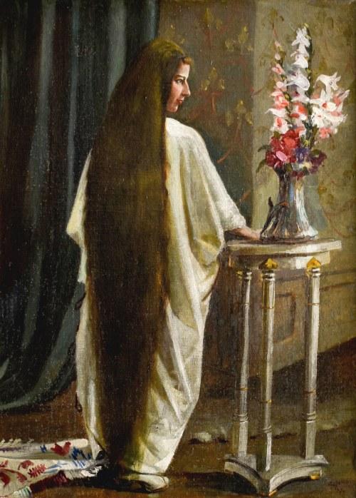 Zygmunt MENKES (1896-1986), Portret Zofii Reiss, 1917