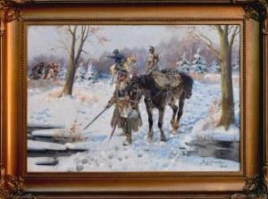 Jerzy KOSSAK (1886-1955), Patrol, 1938