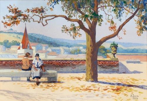 Soter JAXA MAŁACHOWSKI (1867-1952), Jesień na Wawelu, 1926