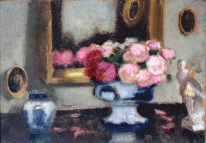 Alfons KARPIŃSKI (1875-1961), Martwa natura z różami