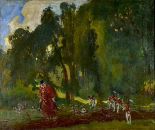 Zygmunt ROZWADOWSKI (1870-1950), Polowanie, 1923
