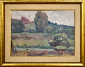 Oleksa NOWAKIWSKIJ (Nowakowski Aleksander)(1872 -1932), Pejzaż z Mogiły, 1926