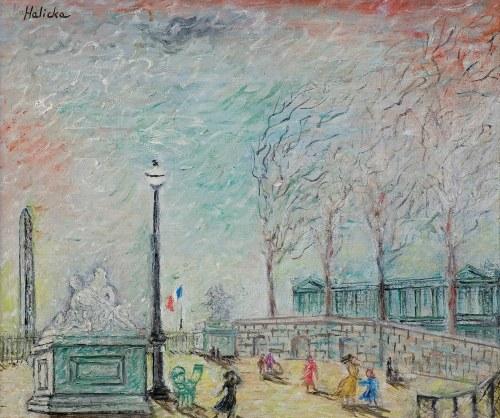 Alicja HALICKA (1889-1974), PARYŻ. OGRODY TUILERIES