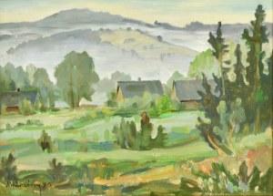 Michał KWAŚNY (1919-1997), Pejzaż podgórski, 1975