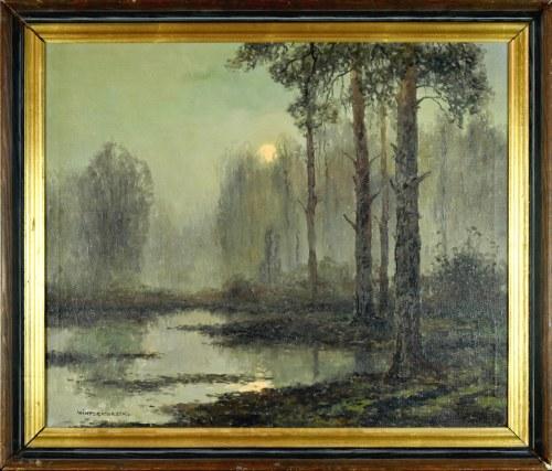 Wiktor KORECKI (1890-1980), Księżyc nad lasem