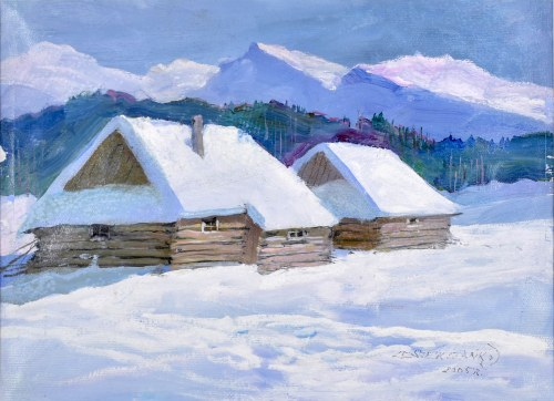 Leszek STAŃKO (1924-2010), Chaty górskie zimą, 2005