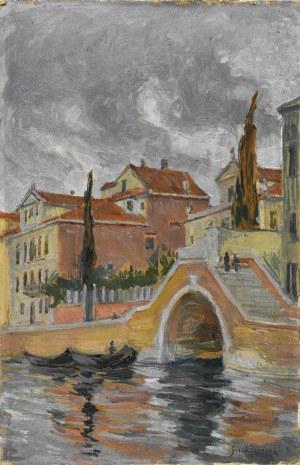 Józef PIENIĄŻEK (1888-1953), Widok z Wenecji