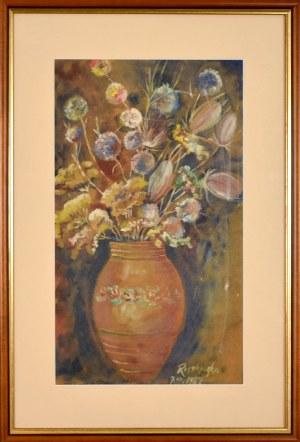 Teresa ROSZKOWSKA(1904-1992), Kwiaty w wazonie, 1982