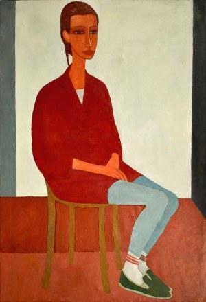 Roman ZAKRZEWSKI (1955-2014), Portret dziewczyny siedzącej na krześle, 1988