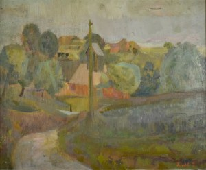 Zygmunt KRÓL(1899 - 1983), Kapliczka przy drodze, 1929