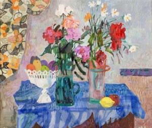 Jan SZANCENBACH (1928-1998), Dwa bukiety, 1984