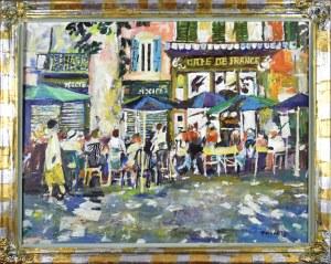 Juliusz JONIAK (1925-2021), Cafe de France III, 2018