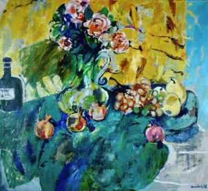 Juliusz JONIAK (1925-2021), Martwa natura z różami, 1998