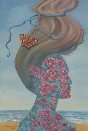 Sabina Salamon, Pejzaż z motylem, 2020