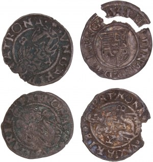 House of Habsburg - Ferdinand I. (1521-1564) Denar LOT – 4 pcs