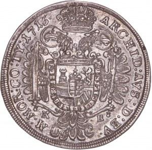 House of Habsburg - Karl VI. (1711-1740). 1/2 Thaler / Taler 1716 KB