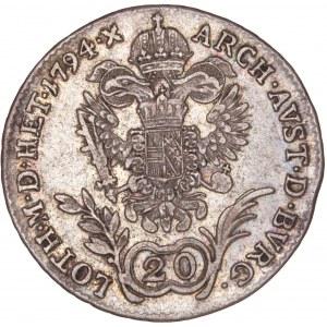 House of Habsburg - Franz I. (1792 -1835) 20 Kreuzer 1794 B