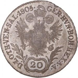 House of Habsburg - Franz I. (1792 -1835) 20 Kreuzer 1805 E