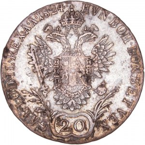 House of Habsburg - Franz I. (1792 -1835) 20 Kreuzer 1824 E