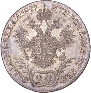 House of Habsburg - Franz I. (1792 -1835) 20 Kreuzer 1827 E