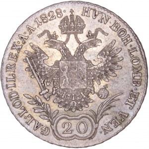 House of Habsburg - Franz I. (1792 -1835) 20 Kreuzer 1828 A