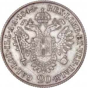 House of Habsburg - Ferdinand I. (1835-1848) 20 Kreuzer 1842 M