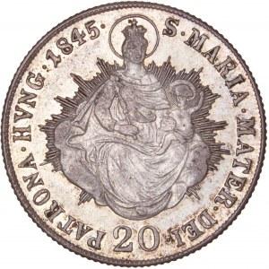 House of Habsburg - Ferdinand I. (1835-1848) 20 Kreuzer 1845 B