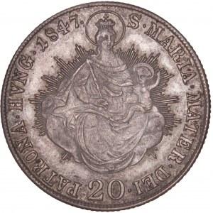 House of Habsburg - Ferdinand I. (1835-1848) 20 Kreuzer 1847 B