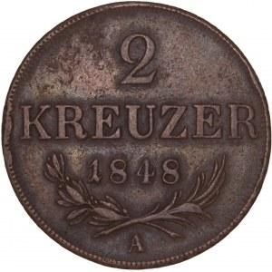 House of Habsburg - Ferdinand I. (1835-1848) 2 Kreuzer 1848 A