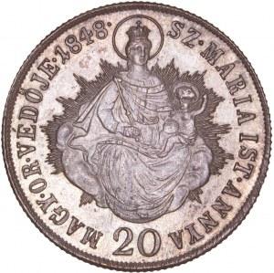 Hungary - War of Independence – Revolution 1848-49 - Ferdinand I. (1835-1848) 20 Kreuzer 1848 KB