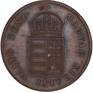 Hungary - War of Independence – Revolution 1848-49 - Ferdinand I. (1835-1848) Kreuzer 1848