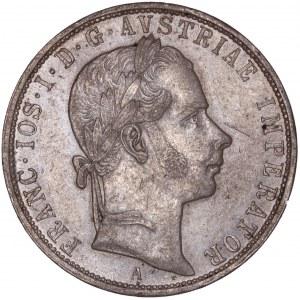 House of Habsburg - Franz Joseph I. (1848-1916) 1 Florin / Gulden 1858 A