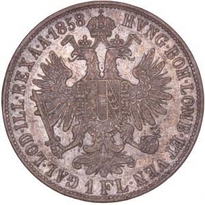 House of Habsburg - Franz Joseph I. (1848-1916) 1 Florin / Gulden 1858 B