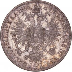 House of Habsburg - Franz Joseph I. (1848-1916) 1 Florin / Gulden 1858 M