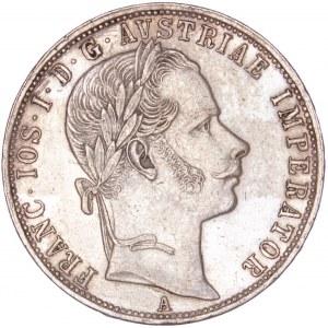 House of Habsburg - Franz Joseph I. (1848-1916) 1 Florin / Gulden 1859 A