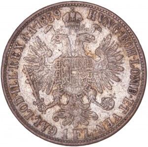 House of Habsburg - Franz Joseph I. (1848-1916) 1 Florin / Gulden 1859 M
