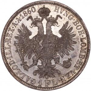 House of Habsburg - Franz Joseph I. (1848-1916) 1 Florin / Gulden 1860 A